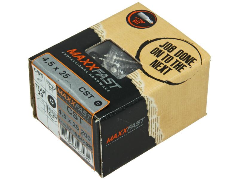 Maxxfast houtschroeven universeel CST 4,5x25 mm inox 200 stuks