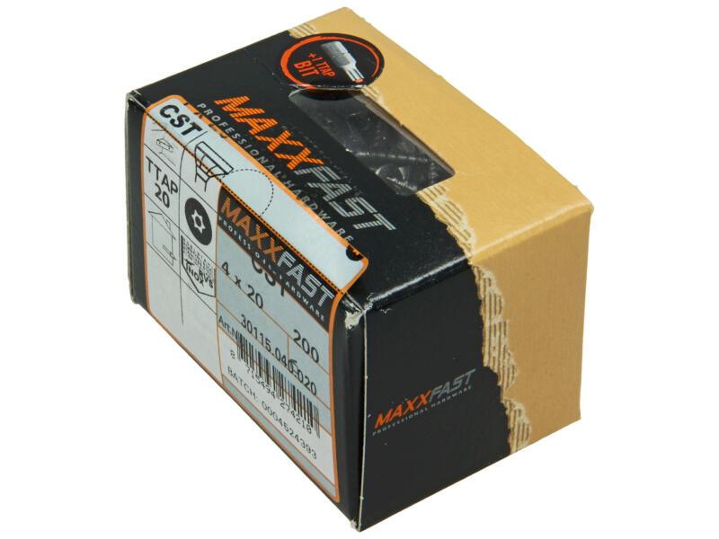 Maxxfast houtschroeven universeel CST 4x20 mm inox 200 stuks