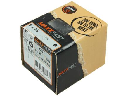 Maxxfast houtschroeven universeel CST 5x25 mm inox 200 stuks