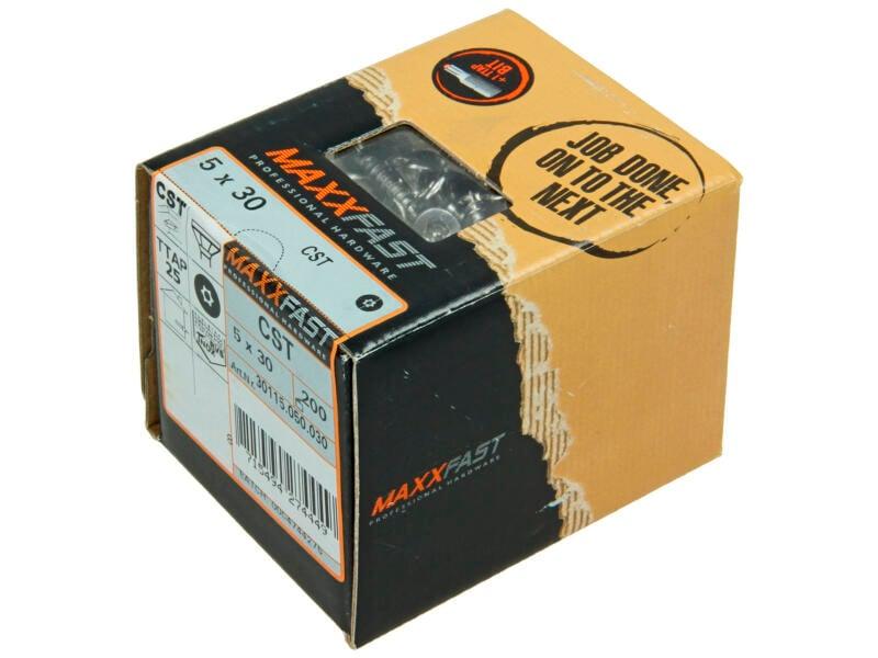 Maxxfast houtschroeven universeel CST 5x30 mm inox 200 stuks