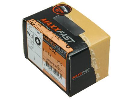 Maxxfast houtschroeven universeel CSZ 3x12 mm verzinkt 200 stuks