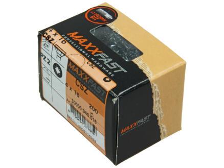 Maxxfast houtschroeven universeel CSZ 4x16 mm verzinkt 200 stuks