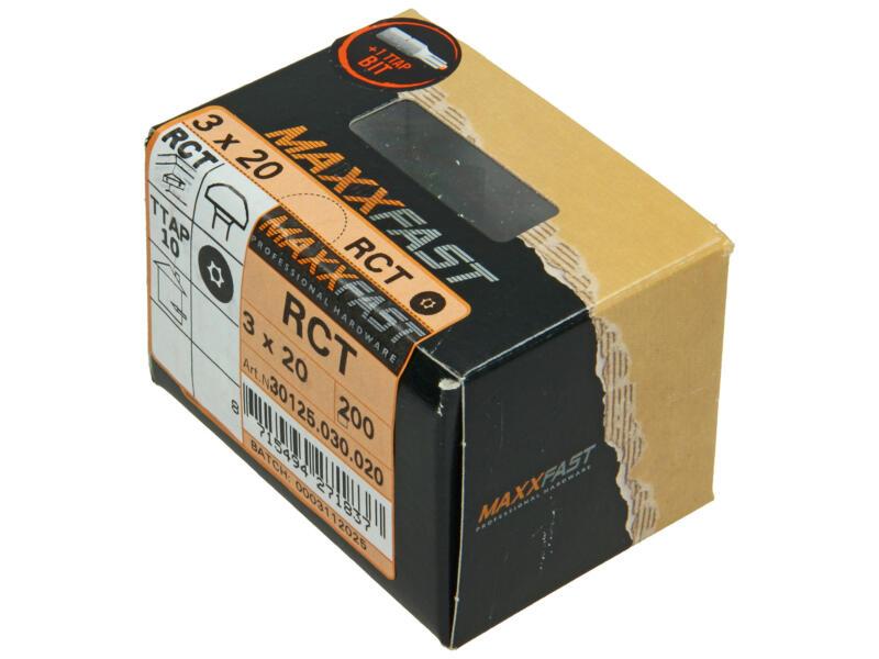 Maxxfast houtschroeven universeel RCT 3x20 mm verzinkt 200 stuks