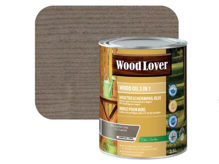 Wood Lover huile bois 2,5l gris graphite #960