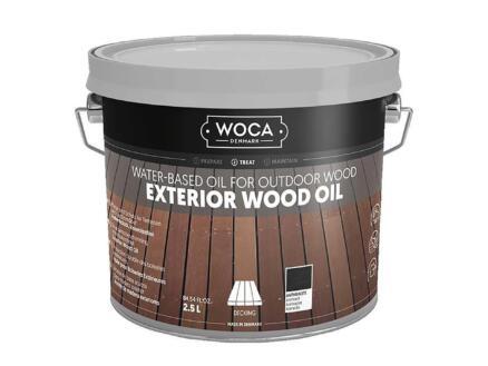 Woca huile bois extérieur 2,5l anthracite