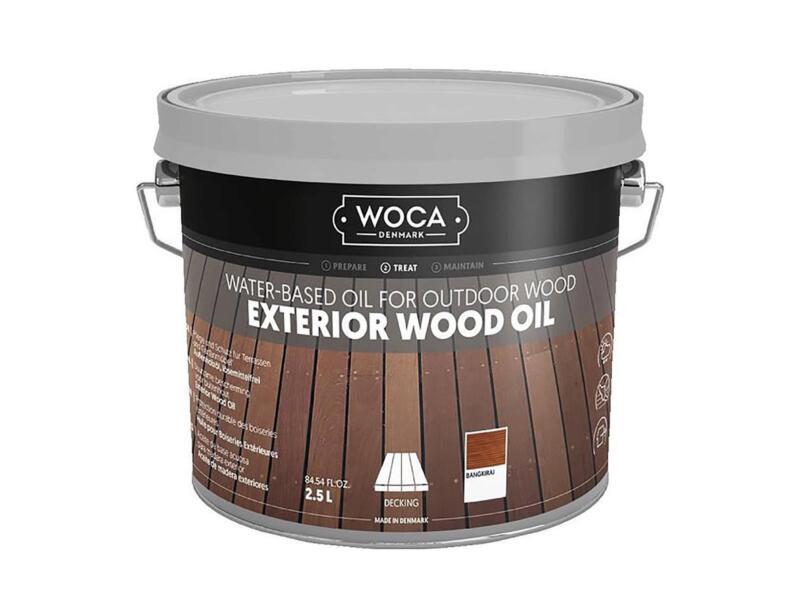 Woca huile bois extérieur 2,5l bangkirai