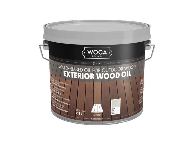 Woca huile bois extérieur 2,5l gris argenté
