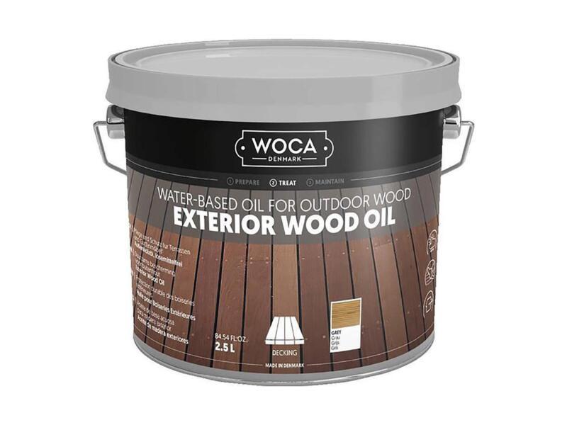 Woca huile bois extérieur 2,5l gris