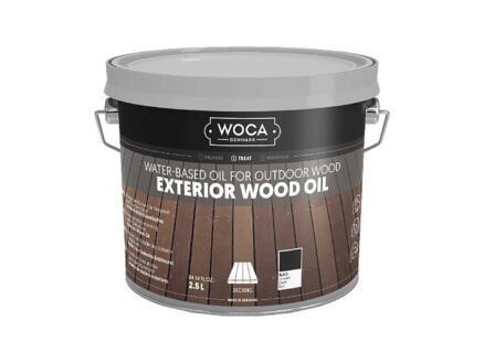 Woca huile bois extérieur 2,5l noir