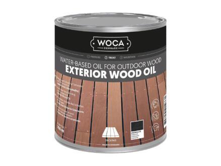 Woca huile bois extérieur 750ml anthracite