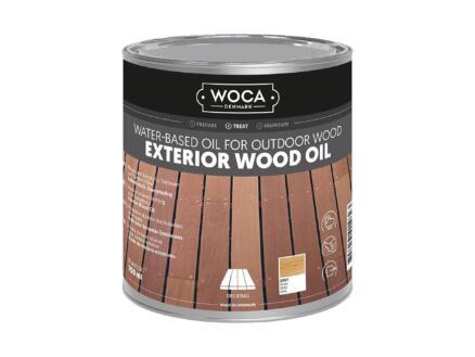 Woca huile bois extérieur 750ml gris