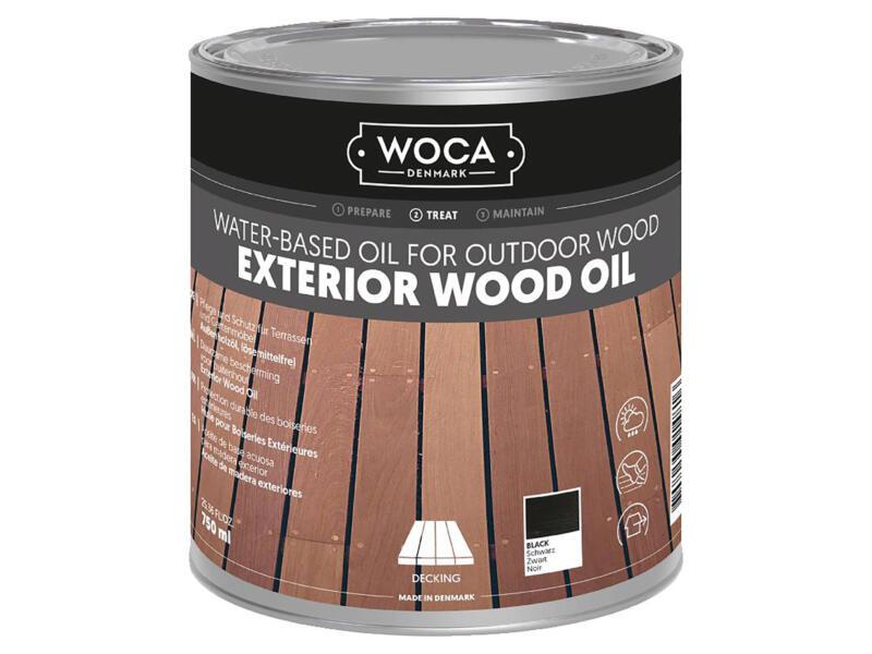 Woca huile bois extérieur 750ml noir