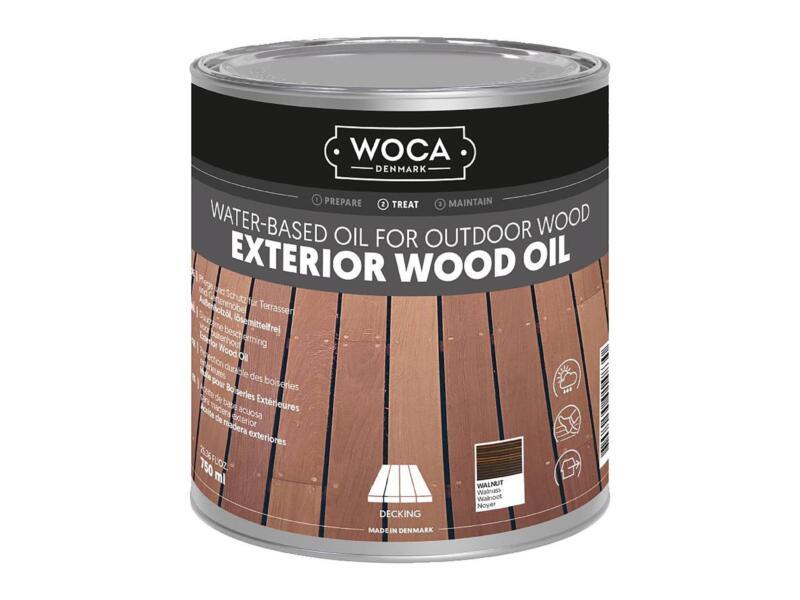 Woca huile bois extérieur 750ml noyer