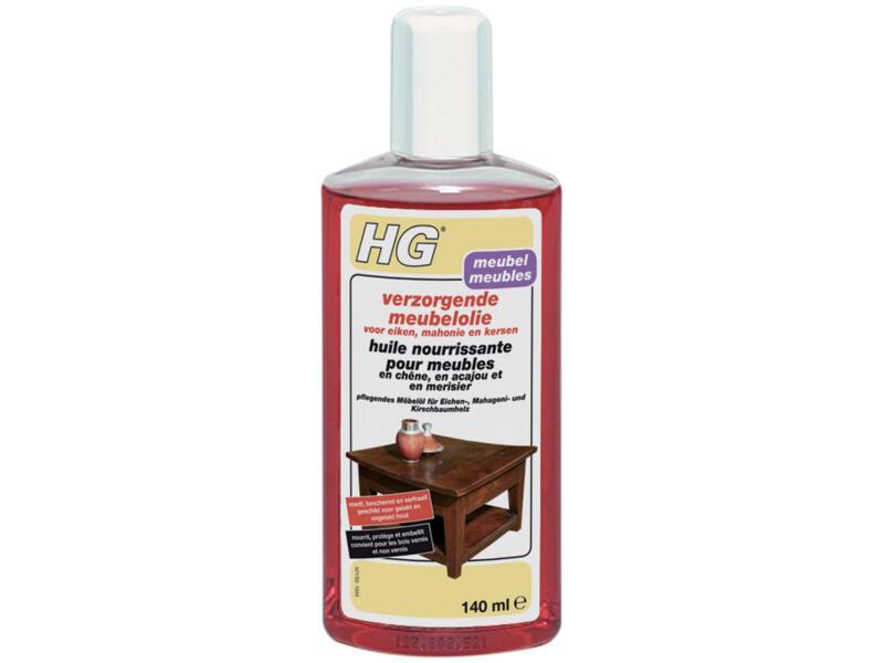 HG huile nourrissante meubles en chêne, acajou et merisier 140ml