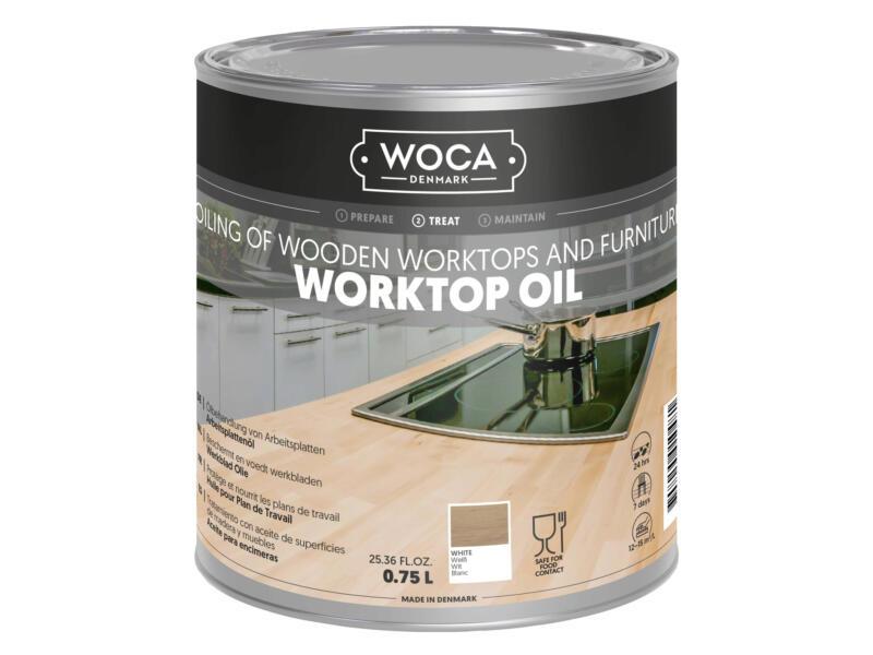 Woca huile plan de travail 750ml blanc