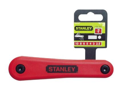 Stanley inbussleutelset 2,5-10 mm 7-delig