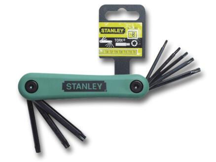 Stanley inbussleutelset torx T9-T40 8 stuks