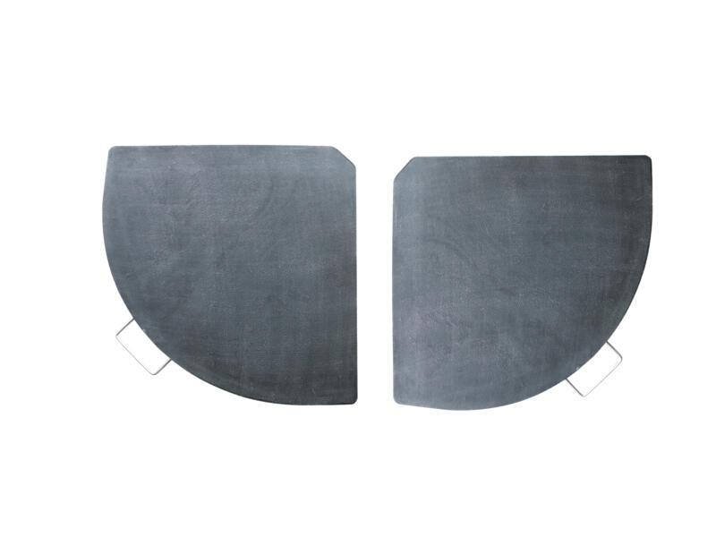 Garden Plus inlegtegel voor parasol 13,5kg polystone antraciet 2 stuks