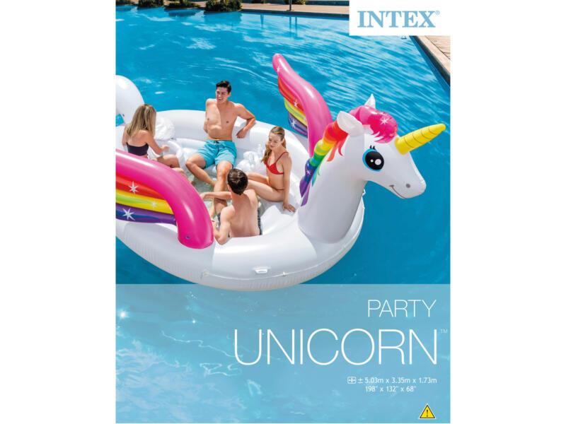 Intex jeu de piscine gonflable licorne île 503x335x173 cm