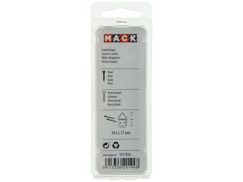 Mack kaderhanger 1,7x1 cm messing