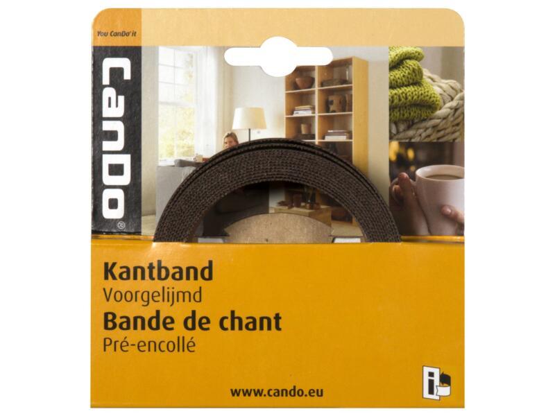 CanDo kantenband 2,8m x 24mm zwart parelstructuur