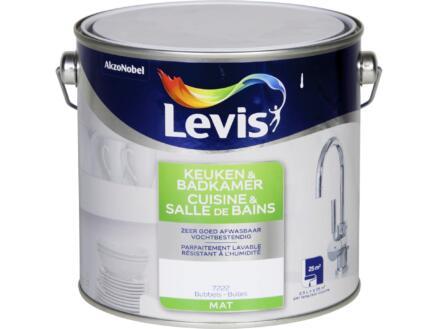 Levis keuken- en badkamerverf mat 2,5l bubbels