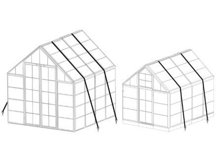 Palram kit d'ancrage au sol pour serre de jardin