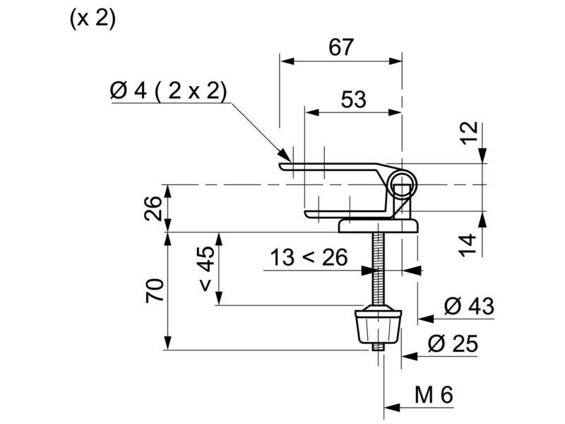 Wirquin kit fixation abattant WC en bois