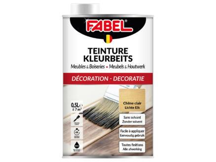 Fabel kleurbeits meubels & houtwerk 0,5l lichte eik