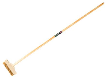 Polet klinkerborstel + houten steel 140cm