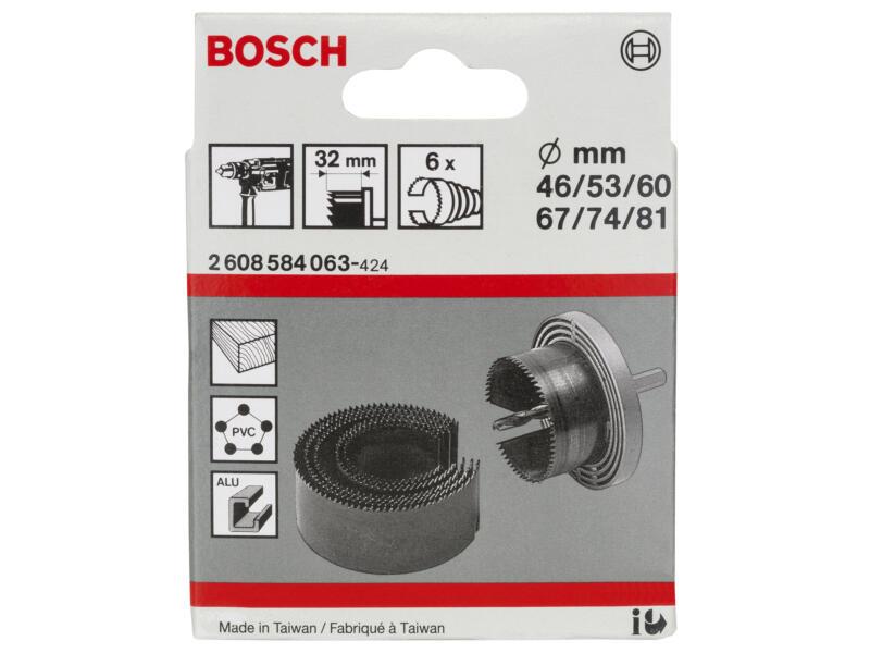 Bosch Professional klokborenset 46-81 mm 6-delig