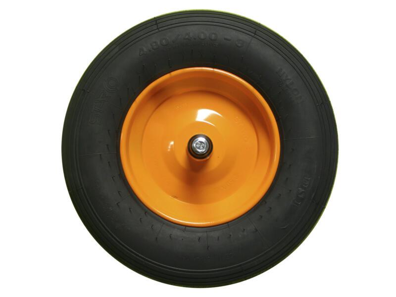 Altrad kruiwagenwiel 400mm metalen velg zwart