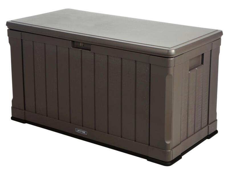 Lifetime kussenbox 128,9x64,5x67,8 cm bruin