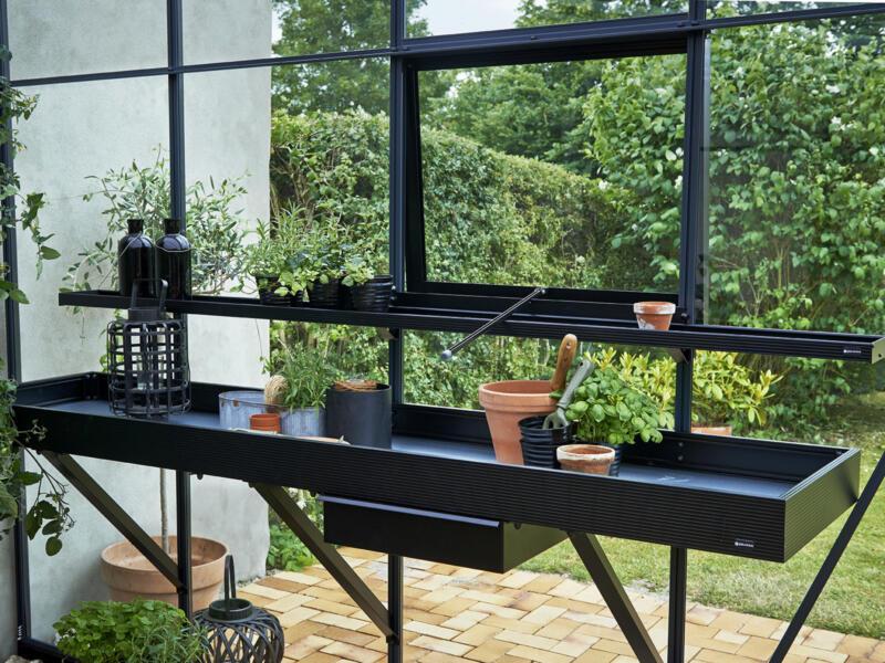 Juliana kweekgoot 213x14x5 cm zwart