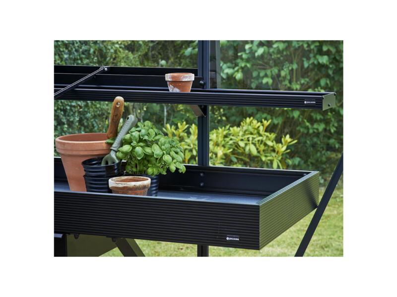 Juliana kweektafel serre met lade 141x52x10 cm zwart