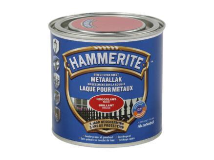 Hammerite lak hoogglans 0,25l rood