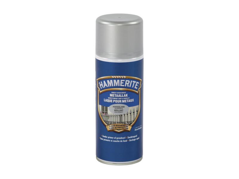 Hammerite lak hoogglans 0,4l zilvergrijs