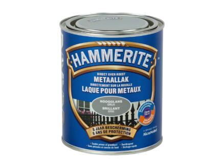 Hammerite lak hoogglans 0,75l grijs