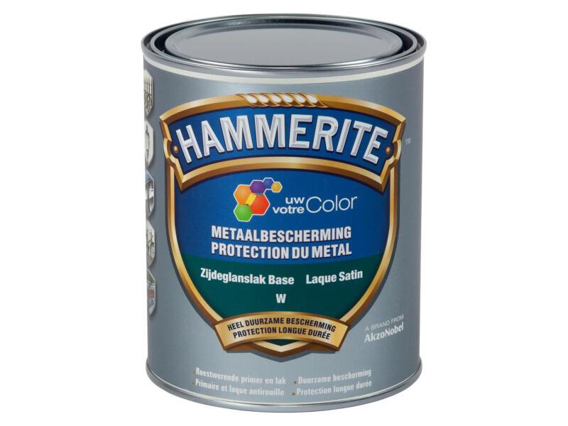 Hammerite lak metaalbescherming zijdeglans 1l wit