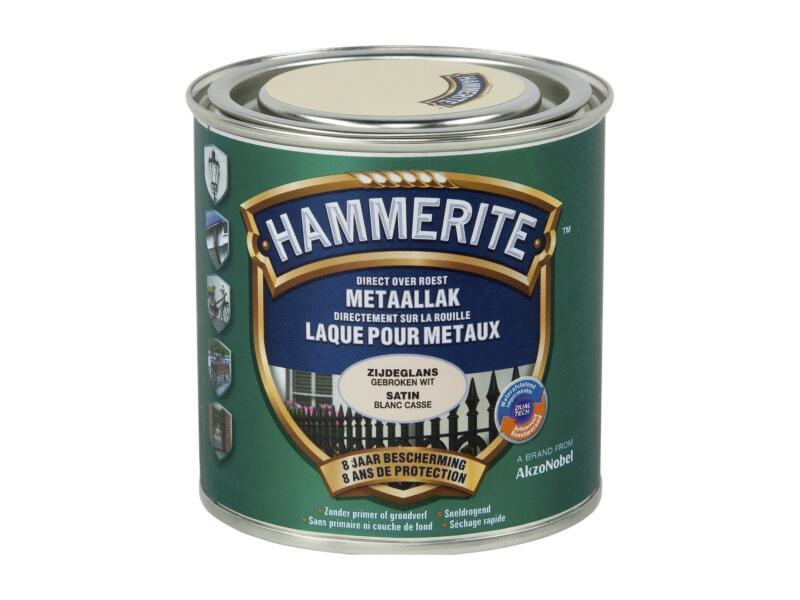 Hammerite lak zijdeglans 0,25l gebroken wit