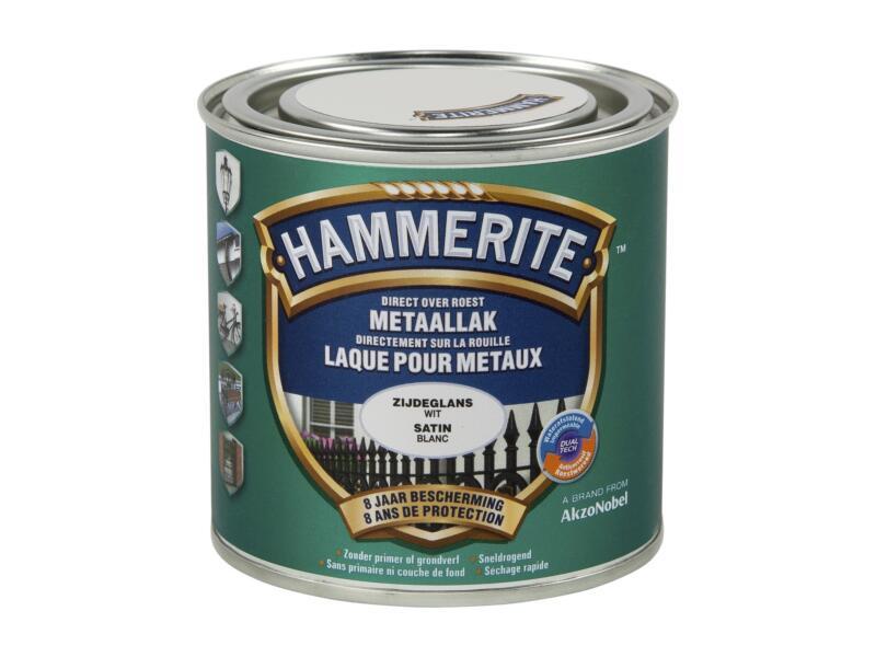 Hammerite lak zijdeglans 0,25l wit