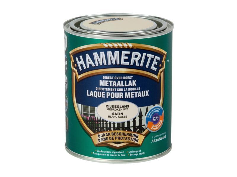 Hammerite lak zijdeglans 0,75l gebroken wit