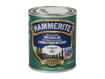Hammerite lak zijdeglans 0,75l wit