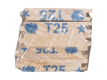 Jewe lame de plancher sapin massif 360x8,8 cm 17mm 5 pièces