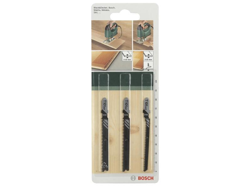 Bosch lame de scie sauteuse sol stratifié 3 pièces