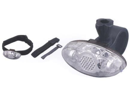 Maxxus lampe de vélo avant LED + brassard