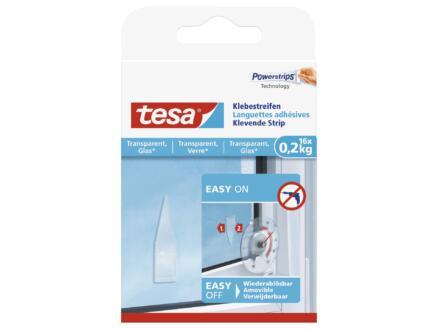 Tesa languettes adhésives verre 16 pièces