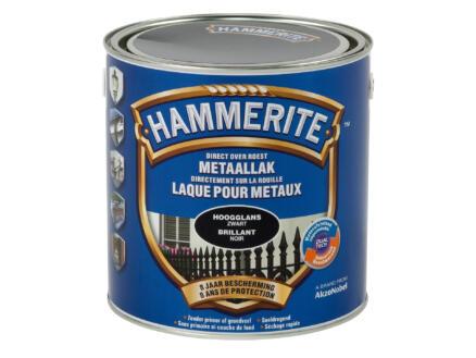 Hammerite laque  pour métaux brillante 2,5l noir