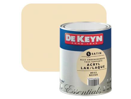 De Keyn laque acrylique satin 0,75l beige #055