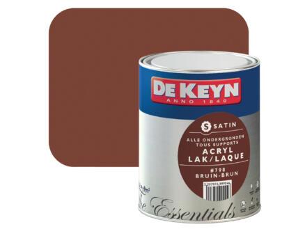 De Keyn laque acrylique satin 0,75l brun #798